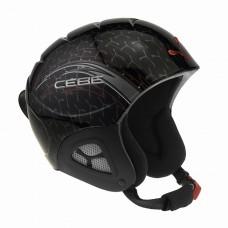 Горнолыжный шлем Cebe Pluma Junior Basics (Black Racing+Siver/Red Arrow)