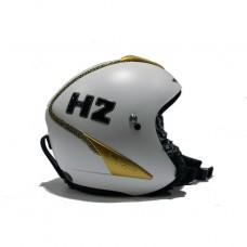 Шлем горнолыжный HMR H2 Bianco Finit.Speciali (Strass E Passamanerie Oro) (0601)